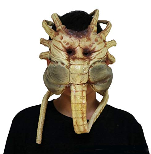 Facehugger Maske Alien Maske Halloween Erwachsene Latex Vollgesichts Cosplay Scary Masken Kostüm Fancy Dress Merchandise ()