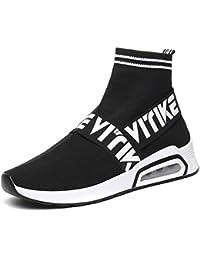 Donna Sneakers Scarpe da Ginnastica Ragazze Interior Casual all Aperto Sportive  Scarpe Calzino No Lacci a5f6796e463