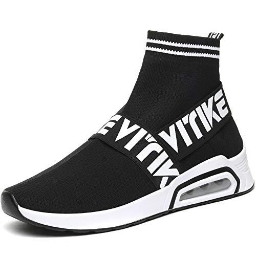 Donna Sneakers Scarpe da Ginnastica Ragazze Interior Casual all'Aperto Sportive Scarpe Calzino No Lacci, 39 EU
