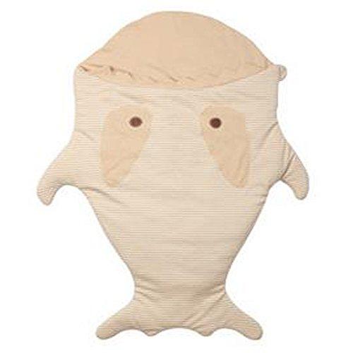 novogifts Gris Shark algodón suave Saco de bebé saco para cochecito en...