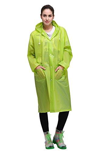 Regenponcho von Outry, Regenjacke Regenmantel, Poncho, Regencape, Rad-Regenponcho, regenponcho fahrrad, regenkleidung für das Fahrrad Grün