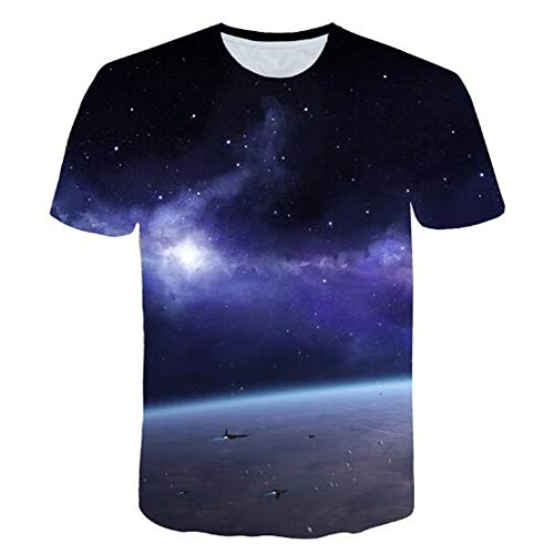 Sommert-shirtMännersommer-beiläufige Tarnungs-Druck-mit Kapuze ärmelloses T-Shirt Spitzenweste,Schlichtes lässiges 3D-Blau 3XL Wolverine Ridge