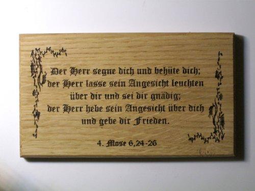 Geschenk Sprüche Kommunion Konfirmation -Der Herr segne dich und behüte dich- Altdeutsch