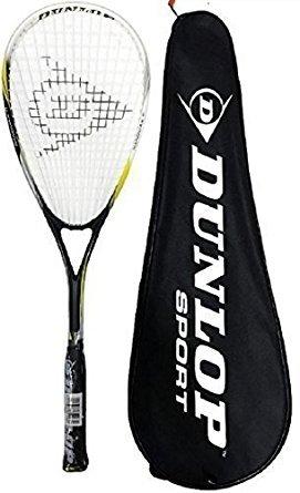 Dunlop Nanomax Ti Squash Schläger + Tasche Schutzhülle