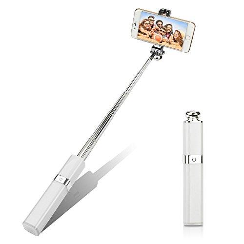 Lippenstift Selfie Stick (ideal Geschenke) Pocket Größe Lippenstift Design, lindacase Fancy Verlängerbarer Selfie Stick Einbeinstativ, eingebautem Bluetooth Fernbedienung, Glossy Finish für iPhone, Android Handys, Windows Handys (Fernbedienung Holster)