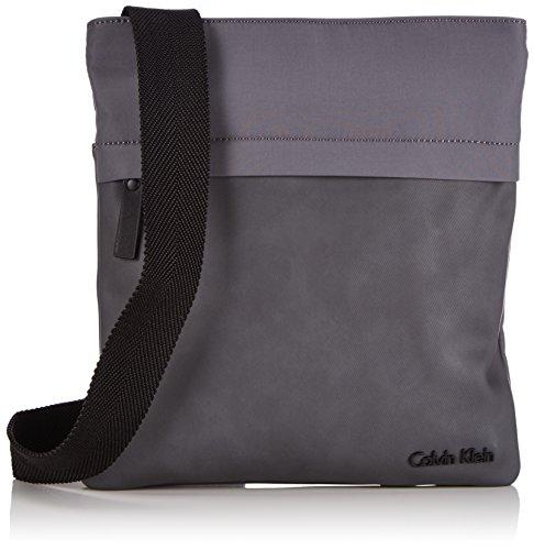 Calvin Klein Bo Flat Crossover Borsa, Uomo Grigio (Castlerock 20)