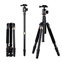 Camera Tripod, LESHP Professional Camera Tripod Monopod Lightweight and Portable with Carrying Bag, 360 Degree Ball Head, for DSLR/Canon/Nikon/Sony/Sanmsung/Olumpus (Q-999S)