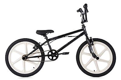 KS Cycling Kinder Bmx Freestyle Xtraxx Fahrrad, Schwarz, 20 zoll