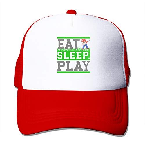 Abigails Home Essen Sie Schlaf Play-2 justierbare Baseballmütze Hip-Hop-Hut-Sport-Kappen der Männer Art- und Weiserot Abigail Caps