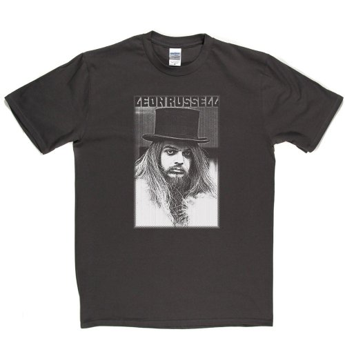 Leon Russell American Session Musician T-shirt Grau