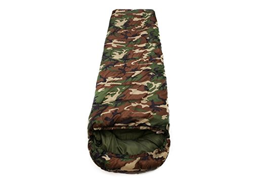 IRIS Army Green Sleeping Bag Envelop 3 Season Ultra Light Portable Waterproof Comfort for Camping, Backpack & Outdoor