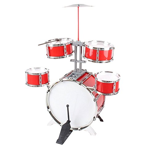 Childrens-Kids-Rock-Band-Drum-Kit-Musical-Instrument-Play-Set-Good-Size-not-too-small