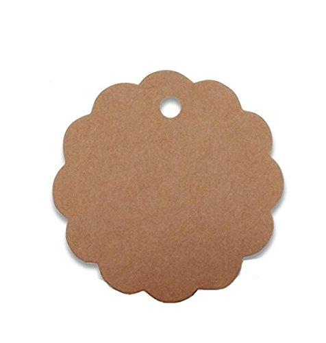 Nicebuty 100pcs Etiqueta regalo papel Kraft tarjetas