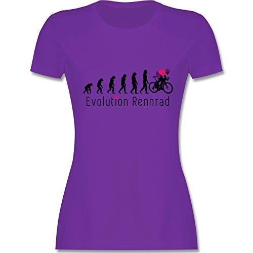 Radsport - Rennrad Evolution - tailliertes Premium T-Shirt mit Rundhalsausschnitt für Damen Lila