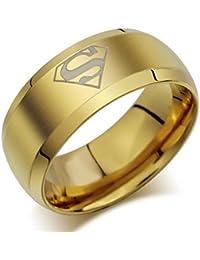 GirlZ! Metal Supermen Ring for Men (Gold color)