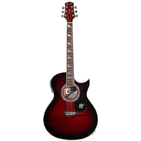 Lindo ORG-SL Schlanke Elektro-Akustische Gitarre mit Vorverstärker und integriertem Stimmgerät sowie Zubehör - (Yamaha Akustik-gitarren Saiten)