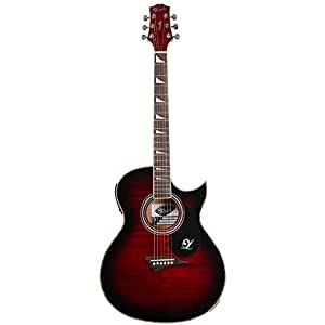 Lindo ORG-SL Slim Electro Acoustic Guitar with Pre-amp and Integrated Tuner/Accessories - Red