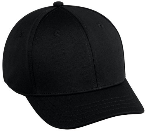 02e47729865 Baseball Home Plate Umpires ProFlex Fitted Cap BLACK (LARGE XL) 2