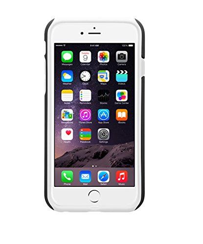 Urcover® iPhone 6 6S Hülle, Dual Layer Hybrid Case Hart-Schale mit TPU / Silikon Innen-Schale - [ KAMERASCHUTZ ] Cover Schutzhülle Handyhülle für Apple iPhone 6 / 6S Farbe: Weiß / Schwarz Schwarz / Weiss