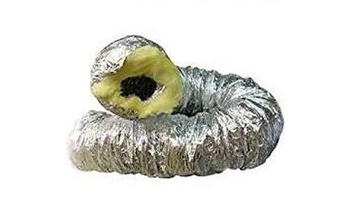 Weedness Abluftschlauch Isoliert Isoflexrohr 125 mm 1 Meter - Sono Schallgedämmt Schlauch Flexrohr Lüftungsrohr Lüftungsschlauch Klimaschlauch