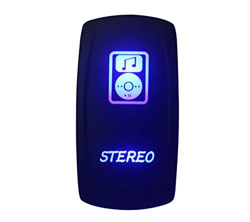 Kippschalter, blau, LED, mit 5Pins, SPST, On-Off, für Marine Grade Auto / Boot RV, Wasserdicht IP66 ()