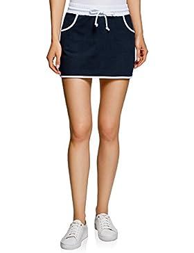 oodji Ultra Mujer Falda de Punto con Cintura Elástica