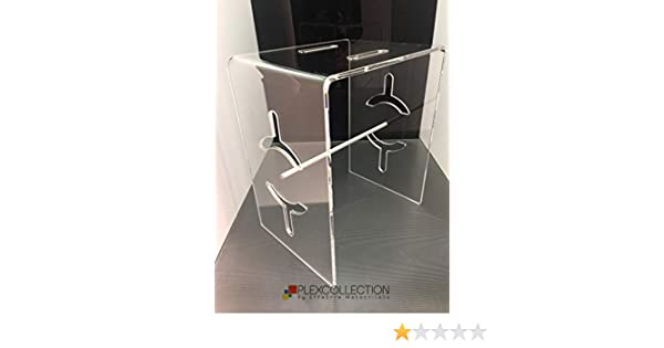 Plexcollection sgabello da bagno in plexiglass amazon casa e