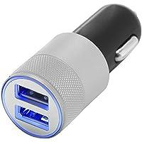 niceEshop(TM) Preminum 2.1A Rapide Dual USB Adapteur Allume-cigare ( Noir et Argent)