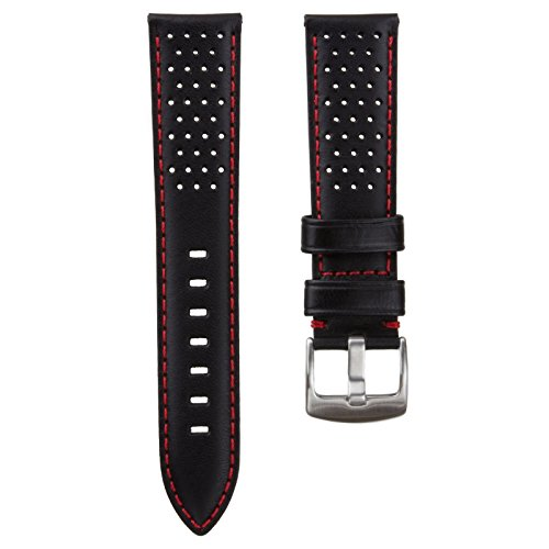 genuine-leather-perforated-watch-strap-black-red-20-mm