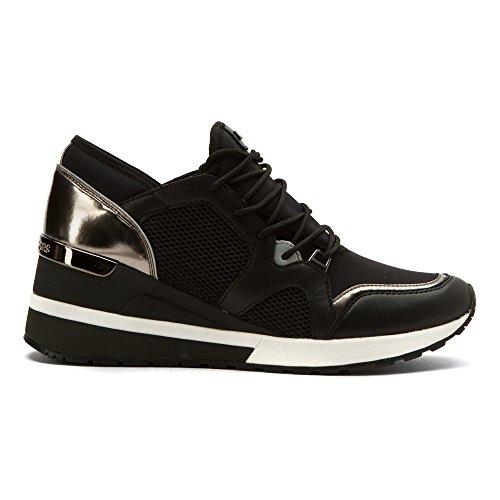 Michael Kors chaussures baskets sneakers femme en cuir scuba scout noir Noir