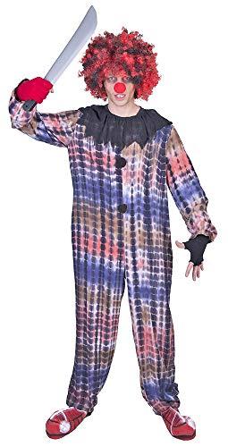 Grusel Killer Clown Kostüm Leo - Schaurige Verkleidung Zombieclown zu Halloween Mottoparty Fasching
