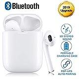 UAHXL Bluetooth Kopfhörer Wireless Kopfhörer Kabellos In Ear Ohrhörer Wireless Earbud Sport Bluetooth Headset mit Mikrofon und Ladekästchen IPX7 Wasserdicht Noise Cancelling Touch-Control für iPhone Android
