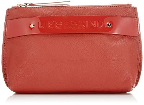 Liebeskind Berlin Soshopper Simona Cosmetic Pouch Medium Damen Kosmetiktasche, 6x14x21 cm (B x H x T), Rot (Hot Red)