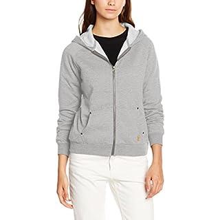 Desires Damen Sweatshirt Aby-A Zip Hood, Grau (8242 LIG Grey M), 34 (Herstellergröße: XS)