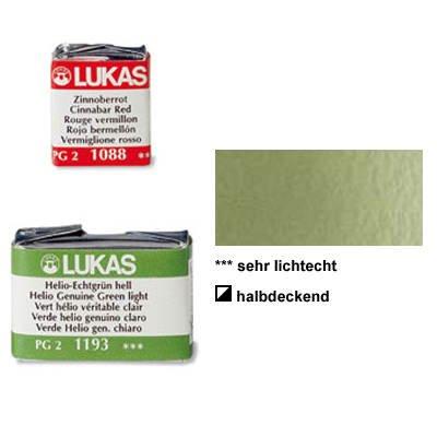 Lukas Feuchte Künstler-Aquarellfarbe 1862, 1/2 Näpfchen, Olivgrün [Spielzeug]