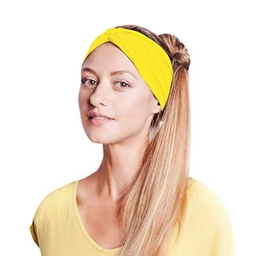 Kopfband Haarspange Fliege Schleife für Damen Kopfband Haarband Elastisch Weich Verdreht Stirnband Kopfbedeckung für Alltag Yoga Sport ()
