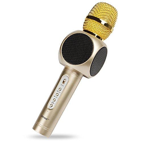 Innoo Tech Micrófono de Karaoke Inalámbrico,4 en 1 Karaoke Altavoz Bluetooth Portátil para IPhone,Android,PC,Apple y otros Teléfonos Inteligentes,Máquina de karaoke de mano para KTV