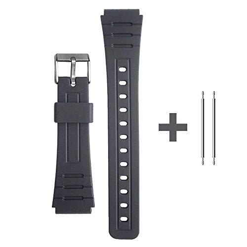 OcioDual Correa de Repuesto Compatible con Reloj Casio F-91W Negra Pulsera 18mm Plastico con Pasadores...