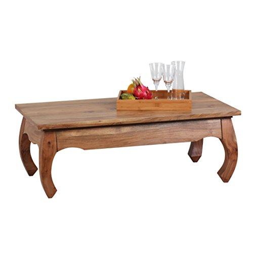 Wohnling de madera de acacia de opio de mesa de centro de madera ...