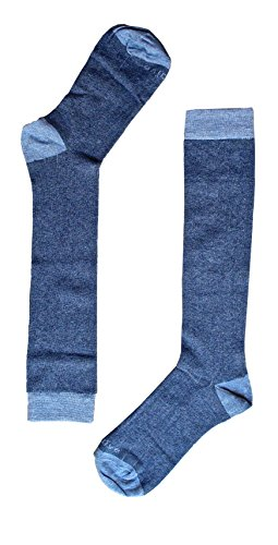 Naive OXF24L, Calcetines altos para Mujer, (Azul 24), 36/41 (Tamaño del fabricante:M)