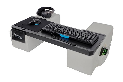 Couchmaster® Cycon (Ergonomische Auflage für das Couch-Gaming, inkl. Kissen) (Weiss, Leder-Look)