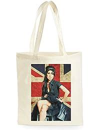 Amy Winehouse Union Jack Poster, Bolsa de Compras para ir de Compras, Picnic, Almacenamiento en el Hogar y Escuela, tote bag