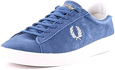 Fred Perry Turner Slip On Pigment Dyed Canvas Cobalt Blue