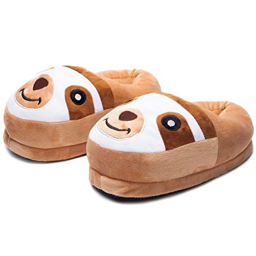 Katara 1824 - Süße Plüsch Faultier Hausschuhe Pantoffeln Slipper Puschen Schuhe, Einheits Größe, Jugendliche