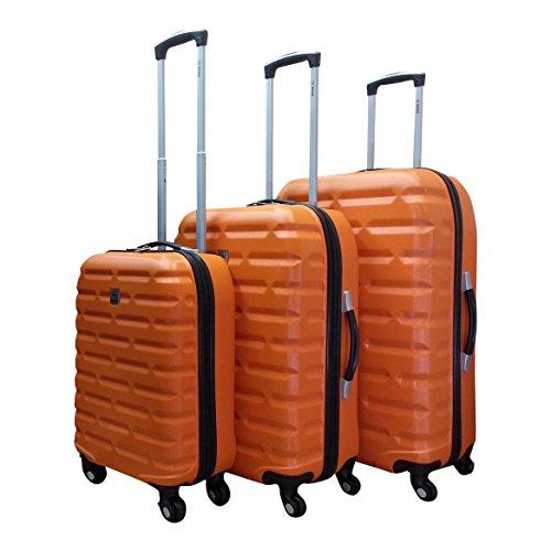 Benzi - hartschale - Kofferset - 3 Teilig - Bricks - orange