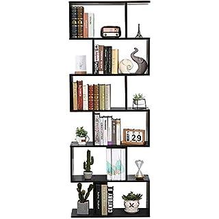 Etnicart - Bibliothèque étagère Dessin Contemporain pour Bureau et Maison en Bois MDF à Jour - 70 x 23.5 x 190 cm. 60 kg Charge autoportant avec divisori-Prodotto de qualité