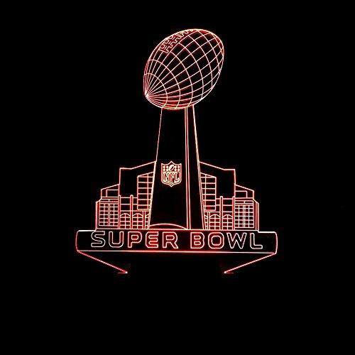 Lampe Super Bowl bunten 3D-Nachtlicht Fernbedienung LED-Lampe visuelle Lampe Geschenk berühren Ein Geschenk für einen Freund (Super-bowl-dekoration)