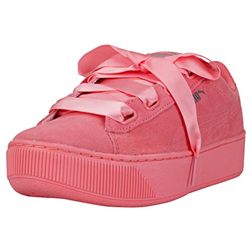 Puma Vikky Platform Ribbon S Donna Scarpe da Ginnastica Dark Pink - 4.5 UK