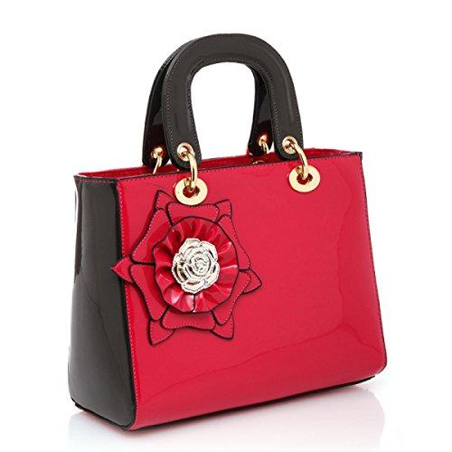 Mini Handtasche Schultertasche Diagonal Paket Damen Fashion Totes Umhängetaschen Für Party Hochzeit Clubs,Red Red