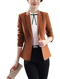 Amazon.fr   Blazer - Marron   Femme   Vêtements 921de8c407d